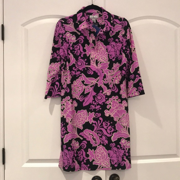 NWT Jude Connally pink and black dress M